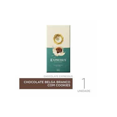 Barra De Chocolate Belga Branco Com Cookies Expressus 80gr.