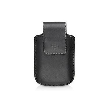 Capa Vertical de Couro Sintético com Clipe Giratório para Blackberry  8900 Preto
