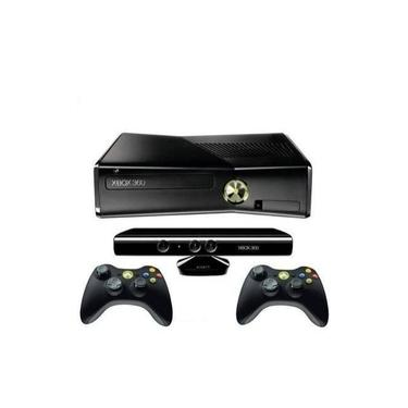 Xbox 360 Slim + Kinect + 2 Controles