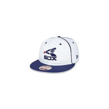 Bone 59fifty Chicago White Sox Mlb Aba Reta Off White New Era