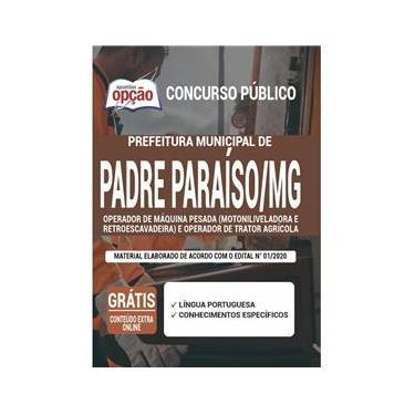 Imagem de Apostila Padre Paraíso Mg - Operador De Máquina Pesada