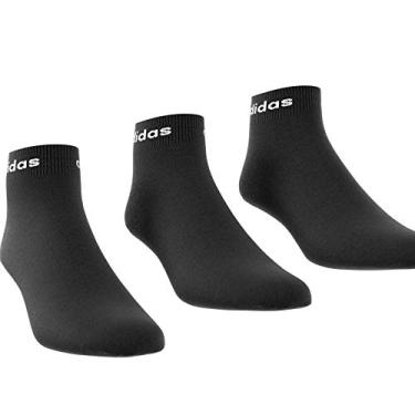 Meia Adidas Cano Médio Ankle 3PP Kit C/3 Pares