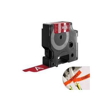 Fita Vermelha Vinilica/pvc 24mm X 5.5m Para Rotulador Profissional Rhinopro Dymo