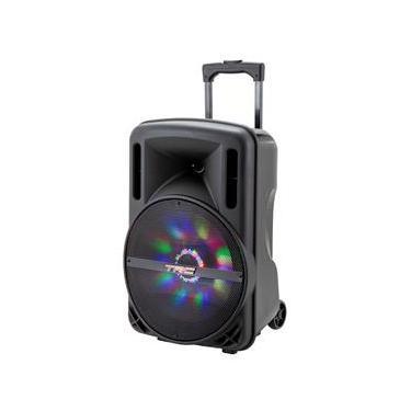 Caixa de Som Amplificada TRC 336 com Bluetooth, Rádio FM, Entrada USB e Iluminação Frontal em Led - 290W