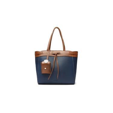 Bolsa Anacapri Shopping Azul Grande Caramelo