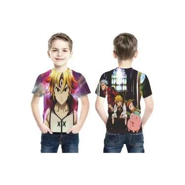 Camiseta Nanatsu No Taizai Meliodas Estampa Total Infantil
