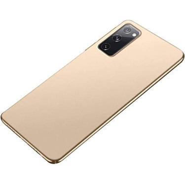 """Capa Capinha Anti Impacto 360 Para Samsung Galaxy M21s com Tela de 6.4"""" Polegadas Case Acrílica Fosca Acabamento Slim Macio - Danet (Dourada)"""