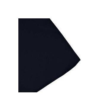 Imagem de Toalha De Mesa Cobre Mancha Redondo Em Tecido Azul Escuro 1,20m