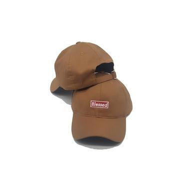 Boné Blessed Caramelo Aba Curva Hat Fitão Strapback Premium
