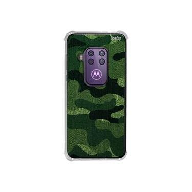 Capa Anti-Impacto Personalizada para Motorola One Zoom - Camuflada Militar Verde - Husky