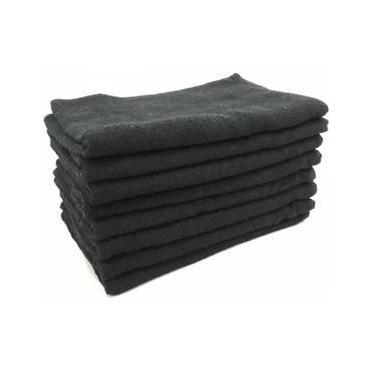 Imagem de Kit 15 Toalhas Rosto Preta para Barbearia 45x70cm