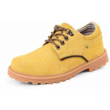 Bota Sandro Moscoloni Worker Cano Baixo Amarelo  masculino