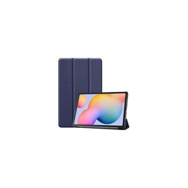 Imagem de Tablet Case para Samsung Tab S6 Lite 10.4 (P610 / P615) Slim Magnetic Dobrável Suporte - Azul