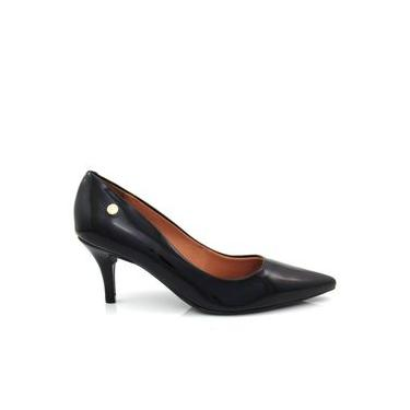 Sapato Scarpin Feminino Vizzano 1185102 Bico Fino Verniz Salto Baixo