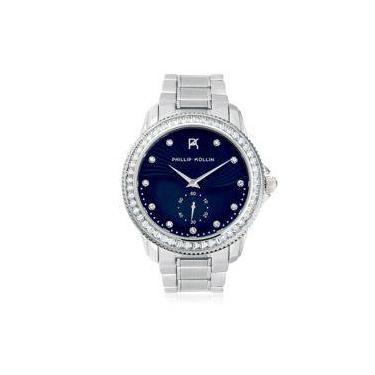 e5b664c7dc5 Relógio Feminino Phillip Kollin Malta ZY28047F Silver Blue
