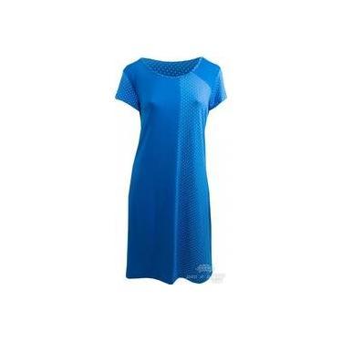 Vestido Pau a Pique poá Azul Bic