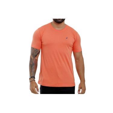 Camiseta Laranja Masculina Básica Algodão Bamborra
