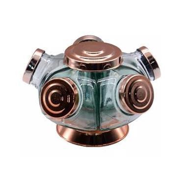 Baleiro de vidro giratório Boêmia