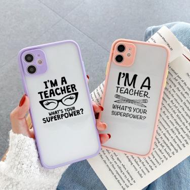 Professor de profissão caso de telefone para iphone 12 11 x xr se20 capa para iphone 8 6 7 plus eu