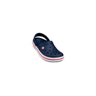 Imagem de Sandalia crocs crocband clog Azul-Branco-Vermelho