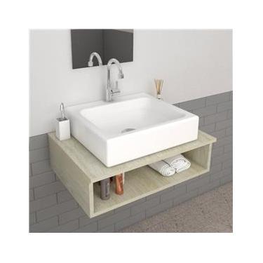 Cuba de Apoio Para Banheiro Retangular 44X40 Cm Nice Branco
