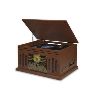 Vitrola Raveo Stadio Toca-discos, Cd Player, Bluetooth, Radio Fm, Usb,