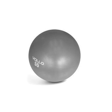 Bola Pilates Gym Ball c/ Bomba 55Cm - Vollo Cinza