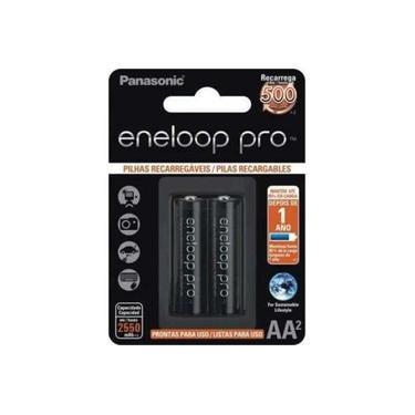 Pilha Recarregável Panasonic Eneloop Pro Aa 2550 Mah ( Pequena ) 1.2v Cartela C/2 Pilhas