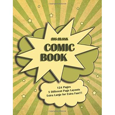 Big Blank Comic Book: Vintage style cover! Blank comic panels to create your own comic book. Perfect for both boys and girls of all ages.