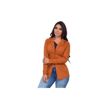 Blazer Feminino Longo Bengaline Terninho Terno Modelagem Slim Elegante Casaco Social