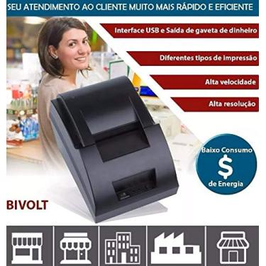Impressora Cupom Não Fiscal 32 Colunas Cabo Usb Térmica