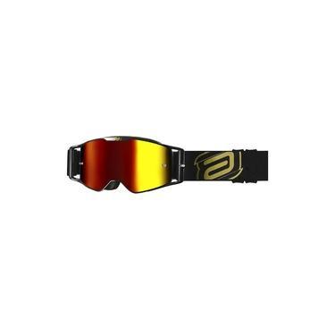 Óculos Asw A3 Class Preto Dourado Trilha Motocross Enduro