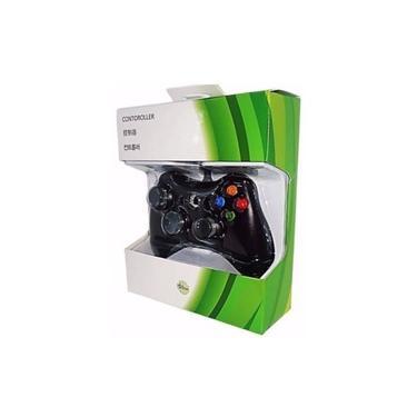Controle Com Fio para Xbox 360 Slim Joystick Computador E Pc