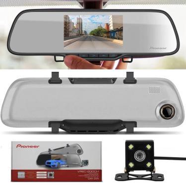 Imagem de Retrovisor Câmera Automotiva Pioneer Dashcam Vrec-200Ch Câmera De Ré Colorida + Câmera Frontal