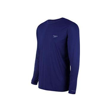 Imagem de Speedo Camiseta Uv Protection M/L Masculina Homens GG Azul