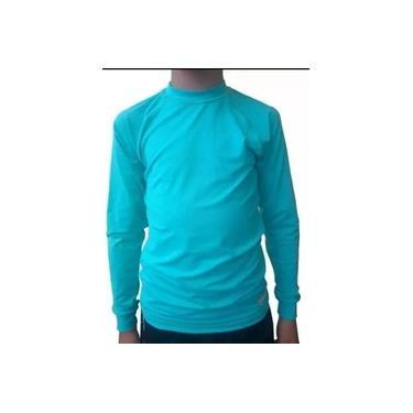 Camiseta com Proteção Solar UV50+ Verde Piscina Infantil Suport Fitness