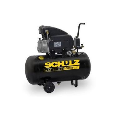 Compressor Motocompressor de Ar 2,0 HP 8,5 Pés 50 Litros CSI 8,5/50 Pratic Air SCHULZ