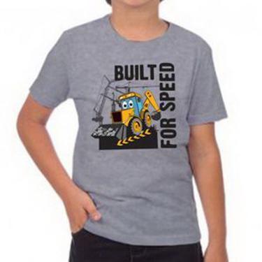 Camiseta Infantil Mescla Built For Speed Jcb