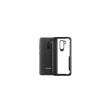 Capa protetora de telefone à prova de choque Acrílico tpu Capa Transparente para Xiaomi Pocophone F1 Preto / Cinza / Vermelho