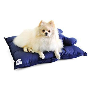 Colchão para Cachorro Pet Conforto Pequeno - P - Azul - Bichinho Chic