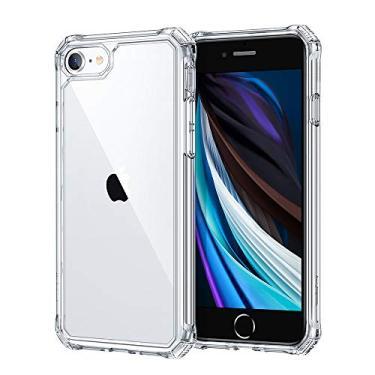 ESR Air Armor Projetado para iPhone SE 2020, iPhone 8 Case [Absorção de choque] [Resistente a arranhões] [Proteção de nível militar] Estrutura de policarbonato flexível de policarbonato rígido (transparente)
