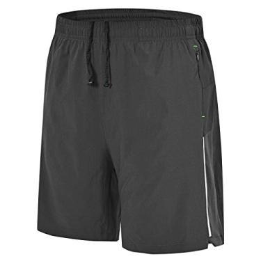 Imagem de Shorts de corrida masculino Rdruko para treino e secagem rápida, shorts leves para academia com forro de malha, Dark Grey, Large