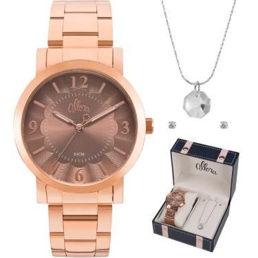 8fb282cbe5f Relógio de Pulso Feminino Allora Lux Golden