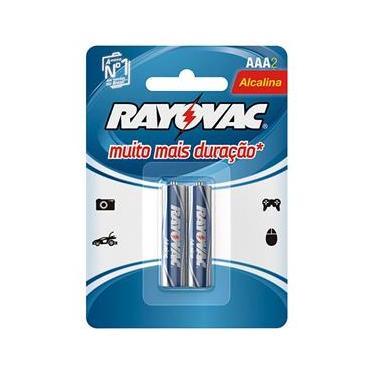 Pilha Alcalina Rayovac AAA (LR03 - Palito) - Cartela com 2 unidades