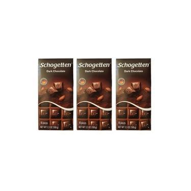 Kit 3 Barras Chocolate Alemão Amargo Dark Schogetten 100g