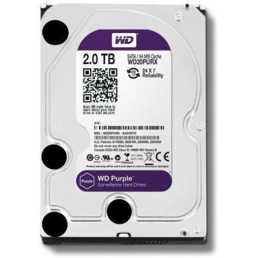 HD Purple DVR Western Digital 2TB 5400 RPM 64MB Cache SATA 6.0Gb/s