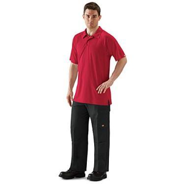 Camisa polo masculina Red Kap Big and Tall Big & Tall Active Performance, Vermelho, 5XL