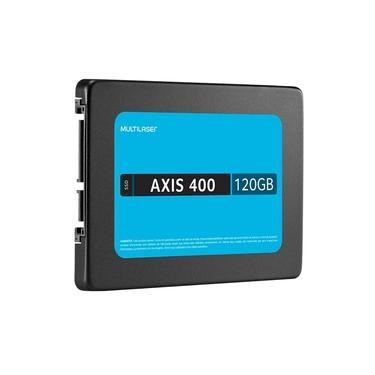 SSD Multilaser 120Gb Axis 400Mb/S Sata III 6GB/s 2.5 Pol Preto