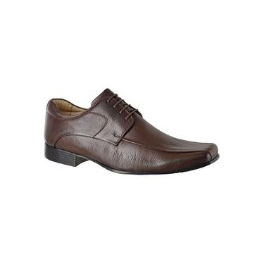 Sapato Masculino Amarrar Extremo Conforto Linha Gel 303 Tabaco