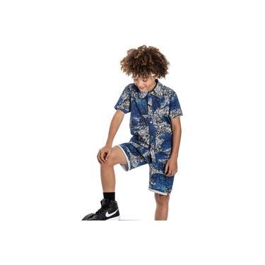 Camisa Infantil Masculina Estampa Grafitada